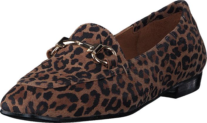 Billi Bi 5221 Leopard, Kengät, Matalapohjaiset kengät, Loaferit, Ruskea, Naiset, 36