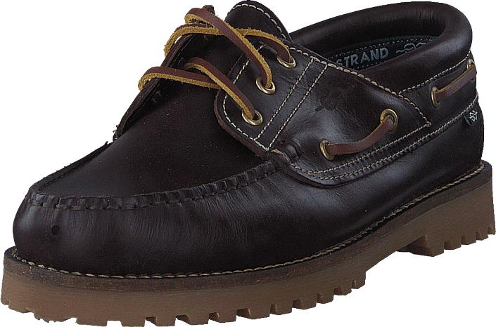 Marstrand Rough 3 Eye Dark Brown, Kengät, Matalapohjaiset kengät, Purjehduskengät, Violetti, Ruskea, Miehet, 44
