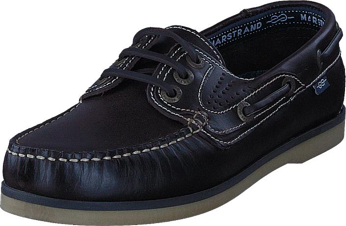 Marstrand Original 3 Eye Dark Brown, Kengät, Matalapohjaiset kengät, Purjehduskengät, Sininen, Miehet, 45