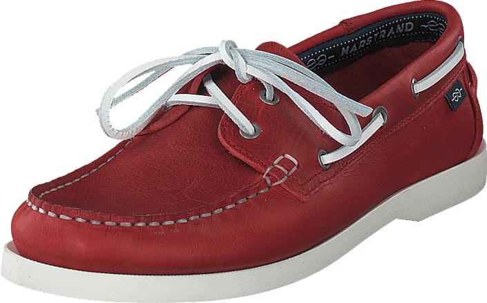 Marstrand 2 Eye Lth Red, Kengät, Matalapohjaiset kengät, Purjehduskengät, Punainen, Miehet, 40