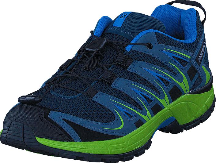 Salomon XA Pro 3D J ReflectingPond/LimeGreen/Hawai, Kengät, Sneakerit ja urheilukengät, Tennarit , Sininen, Unisex, 34