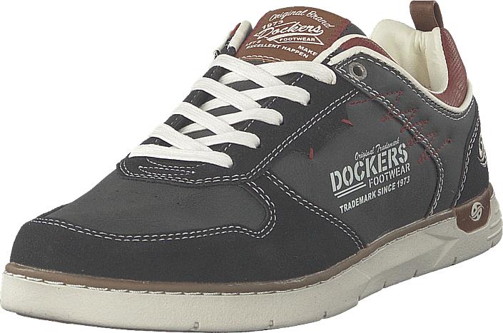 Dockers by Gerli 777100 Black, Kengät, Sneakerit ja urheilukengät, Sneakerit, Harmaa, Miehet, 40