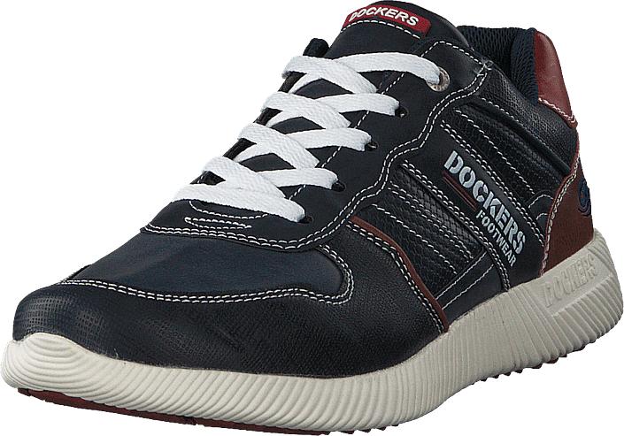 Dockers by Gerli 600600 Navy, Kengät, Sneakerit ja urheilukengät, Sneakerit, Harmaa, Sininen, Miehet, 40