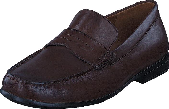 Clarks Claude Lane Brown Leather, Kengät, Matalapohjaiset kengät, Juhlakengät, Violetti, Miehet, 43