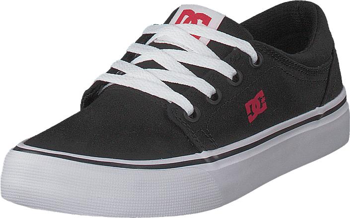 DC Shoes Trase Tx Black/Red/White, Kengät, Matalapohjaiset kengät, Kävelykengät, Musta, Unisex, 30