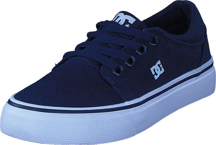 DC Shoes Trase Navy, Kengät, Matalapohjaiset kengät, Kävelykengät, Harmaa, Sininen, Unisex, 29