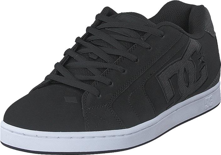 DC Shoes Net Se Black/Black/Grey, Kengät, Sneakerit ja urheilukengät, Sneakerit, Musta, Miehet, 43