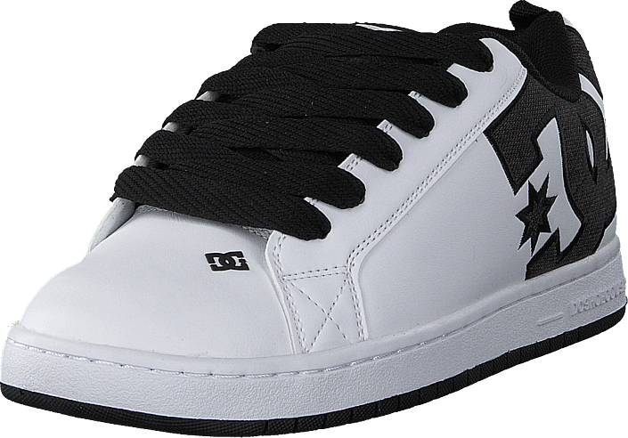 DC Shoes Court Graffik Se Black/White/White, Kengät, Sneakerit ja urheilukengät, Sneakerit, , Miehet, 40