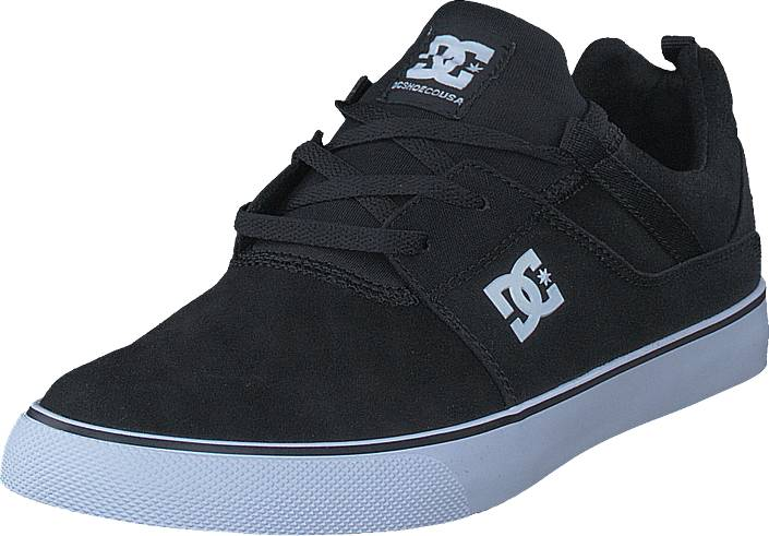 DC Shoes Heathrow Vulc Black/White, Kengät, Matalapohjaiset kengät, Kangaskengät, Musta, Miehet, 42