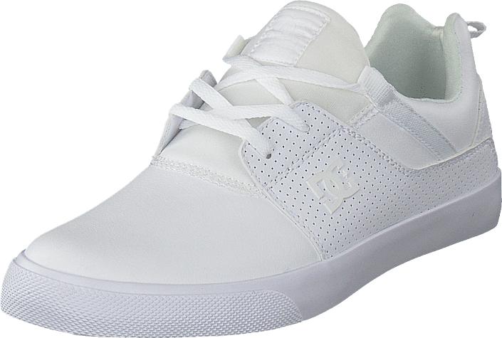 DC Shoes Heathrow Vulc White, Kengät, Matalapohjaiset kengät, Kävelykengät, Valkoinen, Miehet, 40
