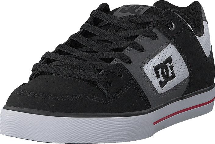 DC Shoes Pure White/Black/Red, Kengät, Sneakerit ja urheilukengät, Sneakerit, Musta, Miehet, 40