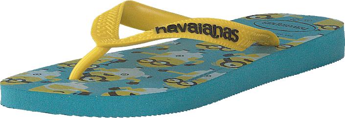 Havaianas Kids Minions Blue, Kengät, Sandaalit ja tohvelit, Flip Flopit, Harmaa, Turkoosi, Unisex, 27