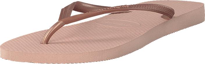 Havaianas Slim Ballet Rose, Kengät, Sandaalit ja tohvelit, Flip Flopit, Vaaleanpunainen, Naiset, 35