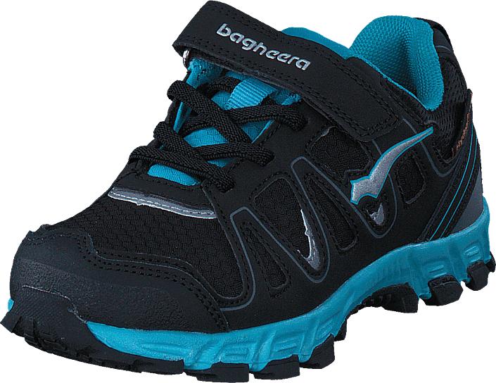 Bagheera Sirius Black/turquoise, Kengät, Sneakerit ja urheilukengät, Tennarit , Musta, Unisex, 33