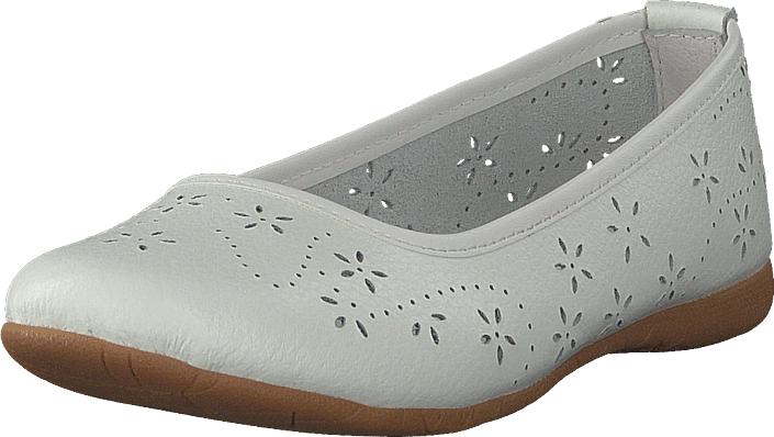 Wildflower Farsund White, Kengät, Matalapohjaiset kengät, Ballerinat, Harmaa, Valkoinen, Unisex, 31