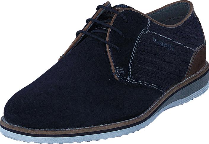 Bugatti Conte Light Dark Blue, Kengät, Matalapohjaiset kengät, Juhlakengät, Musta, Miehet, 40