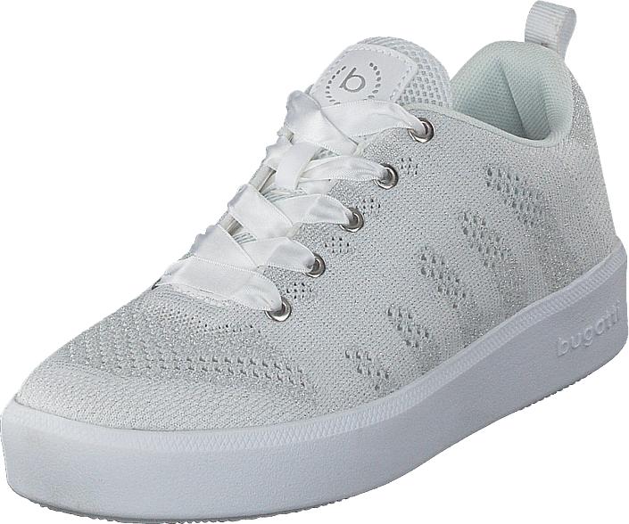 Bugatti Kelli White/silver, Kengät, Sneakerit ja urheilukengät, Sneakerit, Valkoinen, Naiset, 36