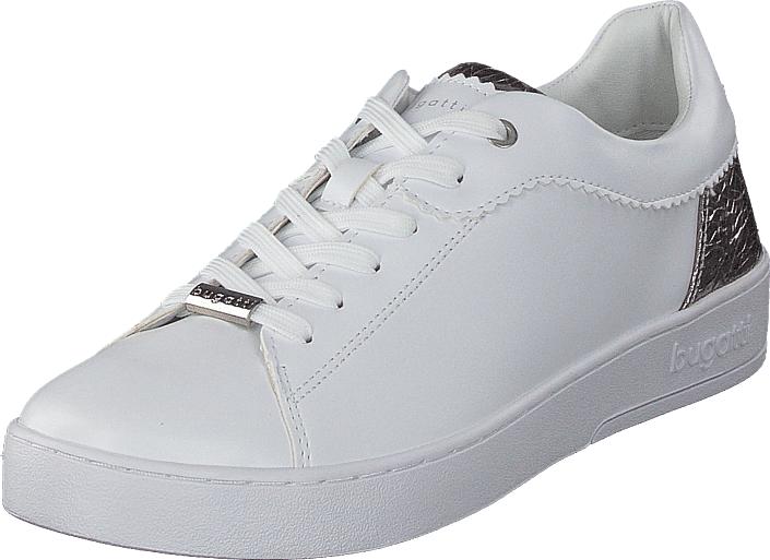 Bugatti Fergie White/silver, Kengät, Sneakerit ja urheilukengät, Sneakerit, Valkoinen, Naiset, 36