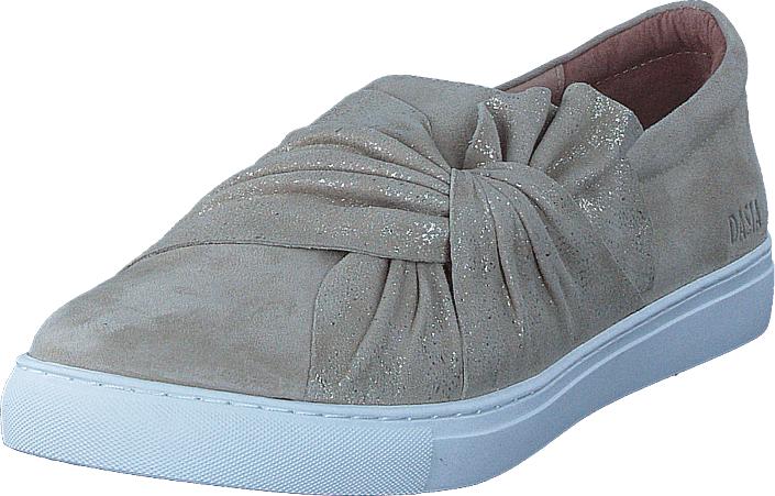 Dasia Daylily Slip-on Bow Beige, Kengät, Matalapohjaiset kengät, Kangaskengät, Harmaa, Naiset, 36