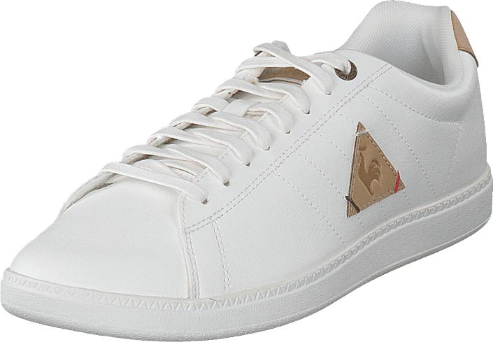 Le Coq Sportif Courtcraft Optical White/croissant, Kengät, Sneakerit ja urheilukengät, Varrettomat tennarit, Valkoinen, Miehet, 40