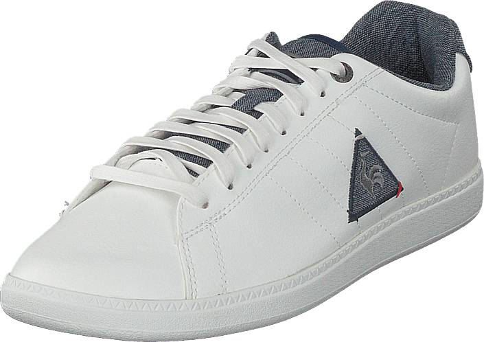 Le Coq Sportif Courtcraft Optical White/dress Blue, Kengät, Sneakerit ja urheilukengät, Varrettomat tennarit, Valkoinen, Miehet, 40