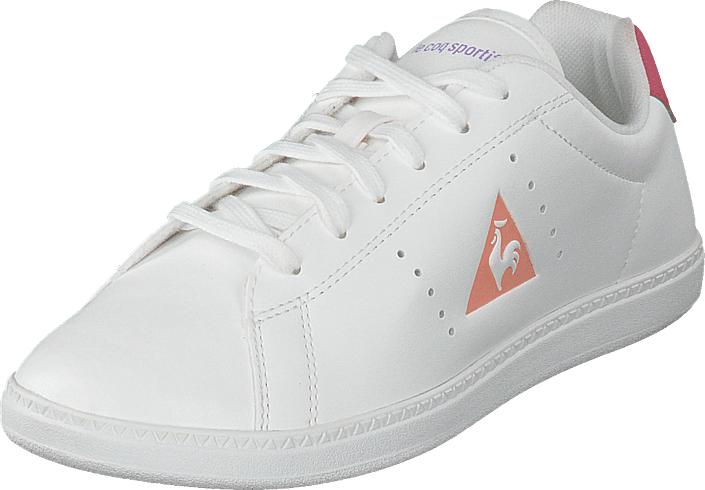 Le Coq Sportif Courtone Gs Girl Optical White/rose Red/lavend, Kengät, Sneakerit ja urheilukengät, Sneakerit, Valkoinen, Unisex, 32