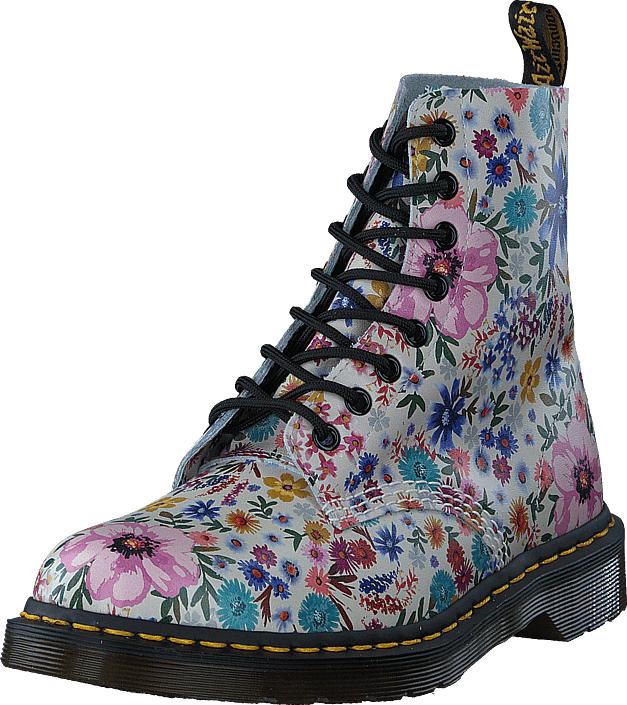Dr Martens 1460 White Flower, Kengät, Bootsit, Kengät, Sininen, Harmaa, Naiset, 38