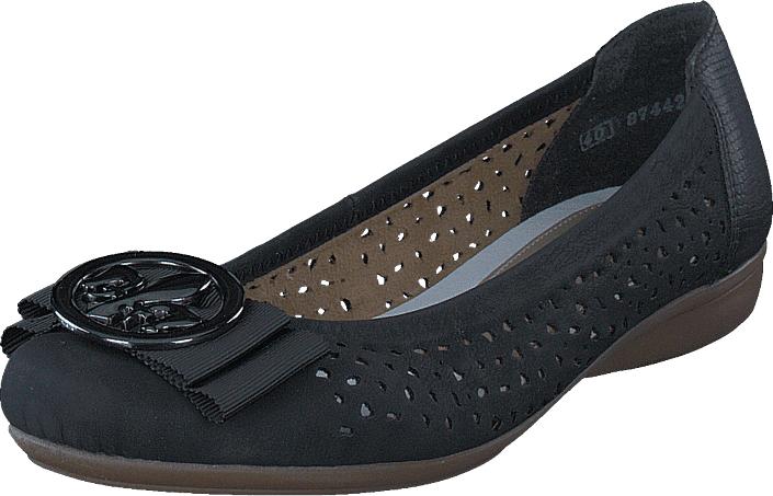 Rieker L8355-00 Nero, Kengät, Matalapohjaiset kengät, Ballerinat, Musta, Naiset, 41