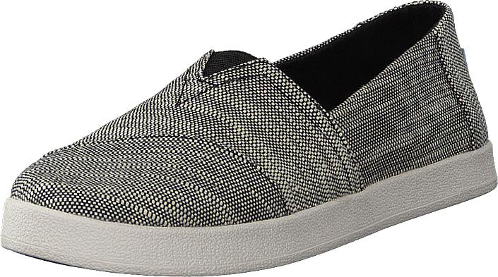 Toms Avalon Black Slubby Cotton, Kengät, Matalapohjaiset kengät, Slip on, Beige, Naiset, 37