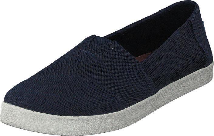 Toms Avalon Navy Slubby Cotton, Kengät, Matalapohjaiset kengät, Loaferit, Sininen, Naiset, 38