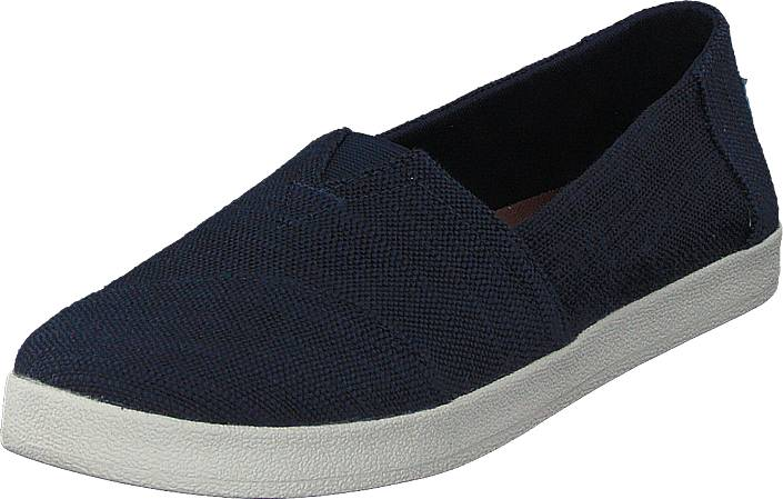 Toms Avalon Navy Slubby Cotton, Kengät, Matalapohjaiset kengät, Loaferit, Sininen, Naiset, 37