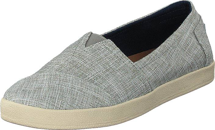 Toms Avalon Drizzle Grey Metallic Woven, Kengät, Matalapohjaiset kengät, Slip on, Harmaa, Naiset, 39