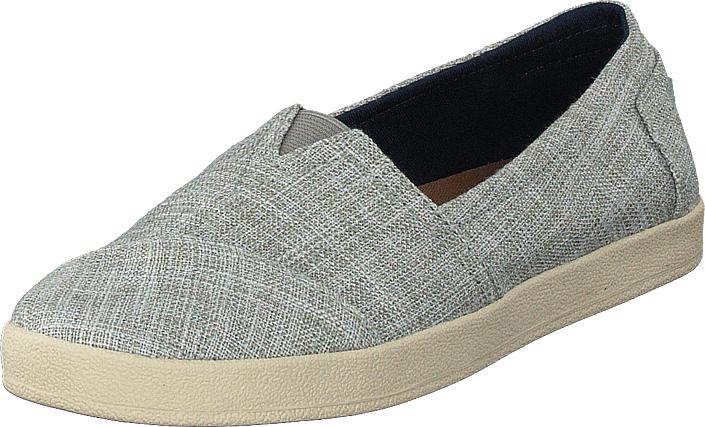 Toms Avalon Drizzle Grey Metallic Woven, Kengät, Matalapohjaiset kengät, Slip on, Harmaa, Naiset, 41