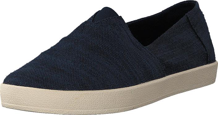 Toms Avalon Navy Slubby Cotton, Kengät, Matalapohjaiset kengät, Slip on, Beige, Sininen, Miehet, 43