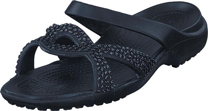 Crocs Meleen Twist Diamante Sandal Black/black, Kengät, Sandaalit ja tohvelit, Flip Flopit, Musta, Naiset, 34
