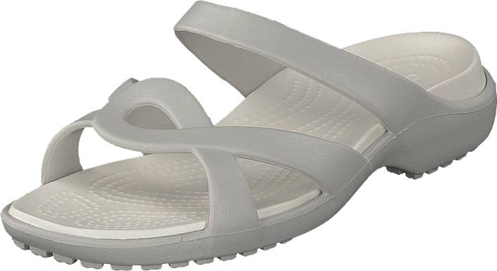 Crocs Meleen Twist Sandal W Pearl White/oyster, Kengät, Sandaalit ja tohvelit, Flip Flopit, Harmaa, Naiset, 36