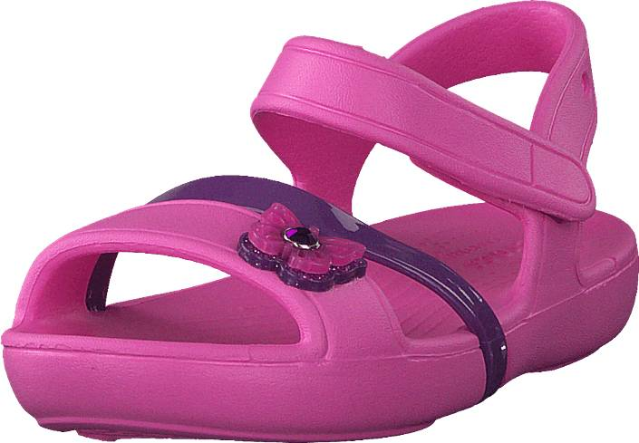 Crocs Crocs Lina Sandal K Party Pink, Kengät, Sandaalit ja tohvelit, Sporttisandaalit, Vaaleanpunainen, Unisex, 20