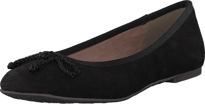Tamaris 22142-001 Black, Kengät, Matalapohjaiset kengät, Ballerinat, Musta, Naiset, 38