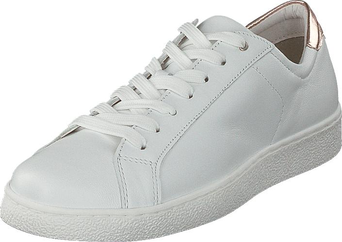 Tamaris 23631-154 White Rose Metallic, Kengät, Sneakerit ja urheilukengät, Varrettomat tennarit, Valkoinen, Naiset, 37