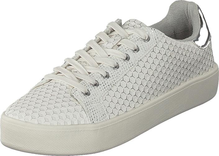 Tamaris 23724-120 Offwhite Structure, Kengät, Sneakerit ja urheilukengät, Sneakerit, Valkoinen, Naiset, 39