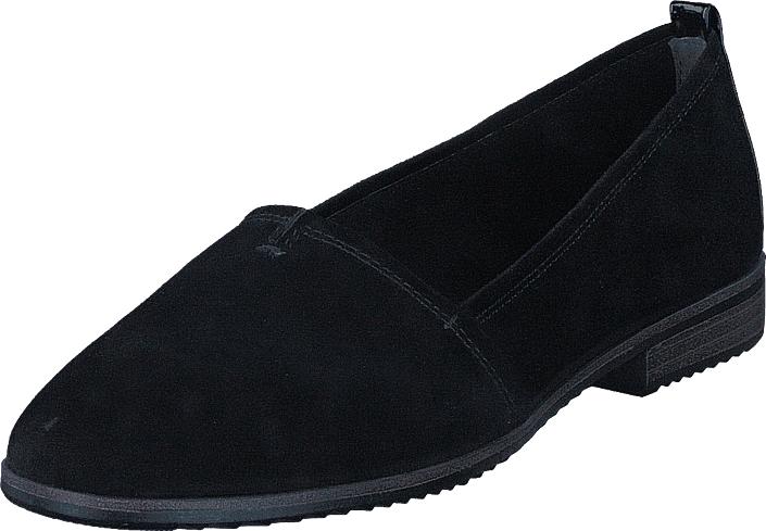 Tamaris 24205-004 Black Suede, Kengät, Matalapohjaiset kengät, Loaferit, Musta, Naiset, 38