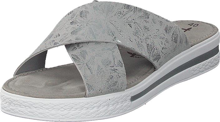 Tamaris 27230-295 Grey Silver, Kengät, Sandaalit ja tohvelit, Sandaalit, Harmaa, Naiset, 40