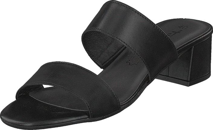 Tamaris 27231-003 Black, Kengät, Korkokengät, Matalakorkoiset sandaalit, Musta, Naiset, 41