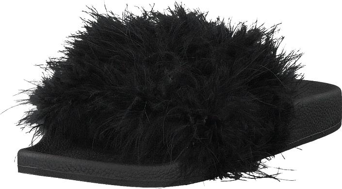 The White Brand Feathers Black, Kengät, Sandaalit ja tohvelit, Sandaalit, Musta, Naiset, 37