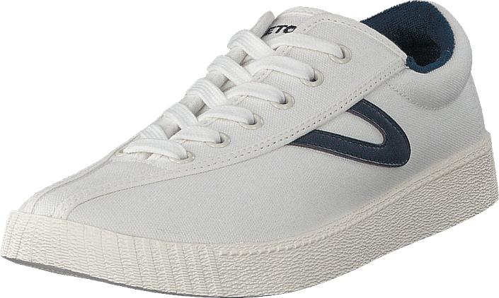 Tretorn Nylite + White/dark Blue, Kengät, Sneakerit ja urheilukengät, Sneakerit, Valkoinen, Miehet, 40