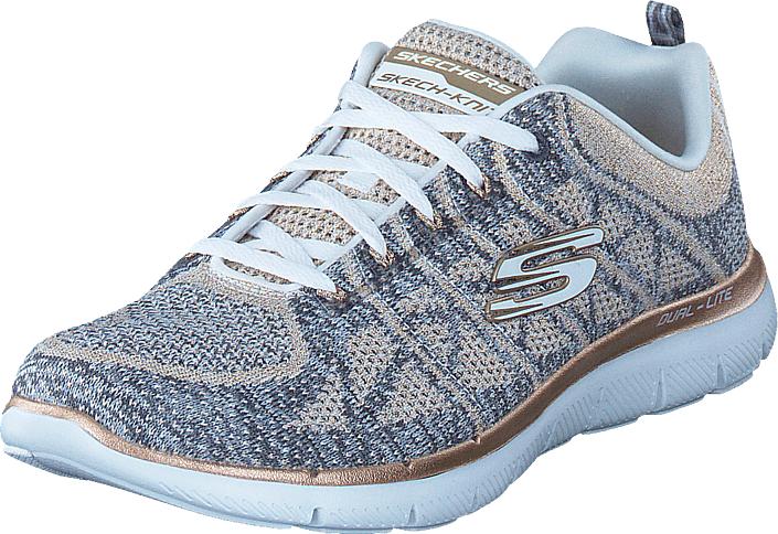 Skechers Flex Appeal 2.0 Wgd, Kengät, Sneakerit ja urheilukengät, Urheilukengät, Sininen, Violetti, Naiset, 38