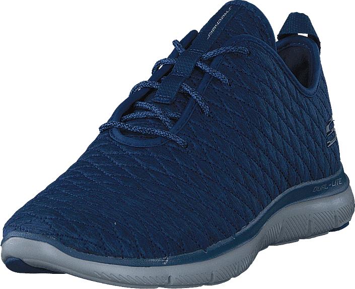 Skechers Flex Appeal 2.0 Nvy, Kengät, Sneakerit ja urheilukengät, Sneakerit, Sininen, Unisex, 36