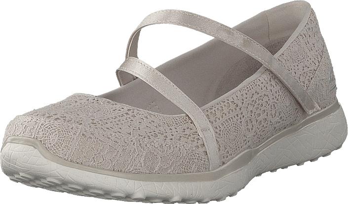 Skechers Microburst Nat, Kengät, Matalapohjaiset kengät, Maryjane-kengät, Ruskea, Beige, Naiset, 41