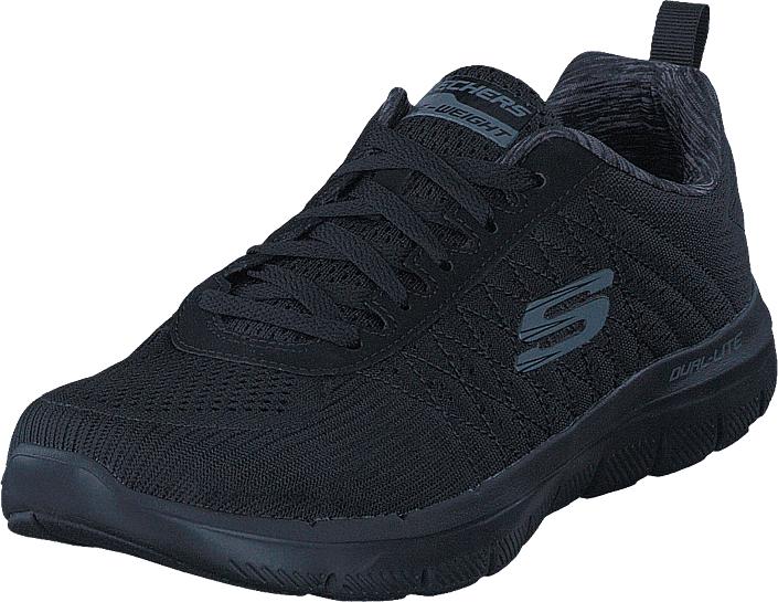 Skechers Flex Advantage 2.0 52185 Bbk, Kengät, Sneakerit ja urheilukengät, Urheilukengät, Musta, Miehet, 44