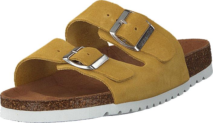 Vero Moda Julia Leather Sandal Cream Gold, Kengät, Sandaalit ja tohvelit, Sandaalit, Ruskea, Keltainen, Naiset, 36